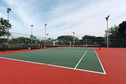 Upgraded tennis courts ready for players