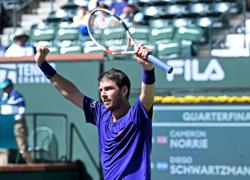 Tennis-British No. 1 title 'great bonus' as Norrie advances at Indian Wells