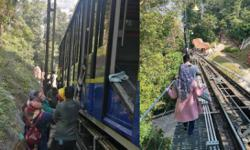 Funicular train breakdown affects holiday mood of Penang Hill day trippers