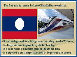 Laos flag symbol inspires passenger train design for Laos-China Railway