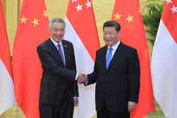 Singapore's PM Lee and China's President Xi discuss boosting economic recovery together
