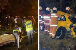 Driver killed, passenger injured after car crashes into road divider in Sungai Buloh
