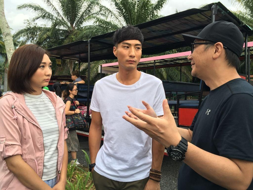 Edward Chui (centre) has been featured in Hong Kong films 'Line Walker' and 'Firestorm'.