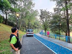 Park users urge motorists to stop using jogging tracks