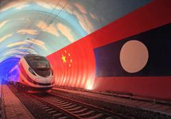 China-Laos bullet train arrives in Vientiane