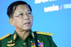 Myanmar junta chief says committed to restoring peace, democracy