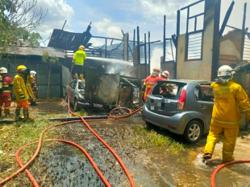 Two shophouses and two cars badly damaged in Air Itam fire