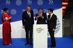 Prize-winning female Spanish novelist exposed as male screenwriting trio