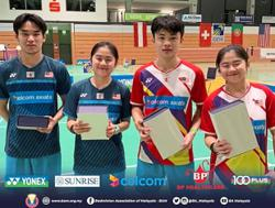 Triple joy for our junior shuttlers in Germany