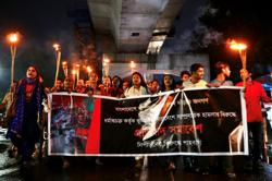 Hundreds protest in Bangladesh over religious violence