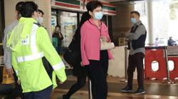 Hong Kong leader Carrie Lam leaves hospital with fractured elbow after falling down stairs at official residence