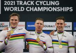 Cycling-Netherlands win world title in men's team sprint