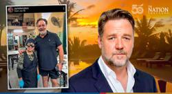 Actor Russell Crowe visits Bangkok's popular Jay Fai restaurant