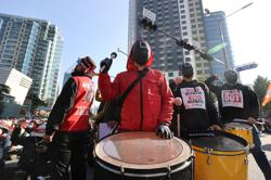 Seoul files complaint against unionists who rallied in 'Squid Game' costume