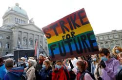 'Fridays for Future' activists in Bern demand climate strike ahead of COP26