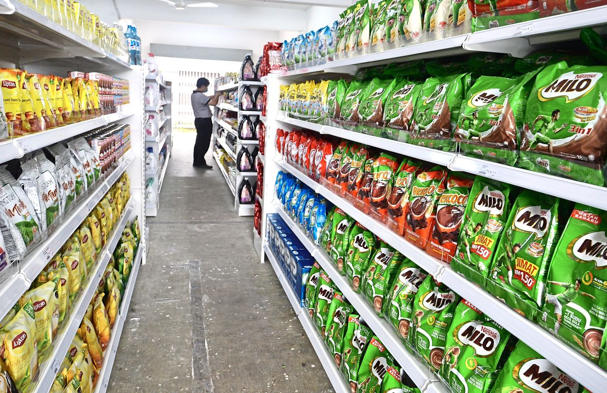 No frills: A Baloy supermarket in Petaling Jaya. The company leverages the customer-to-manufacturer model to lower the cost on essential goods.