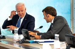 Biden, Macron discussed European defense, will meet in Rome -White House