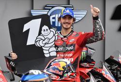 Motorcycling-Ducati's Bagnaia claims pole for Emilia Romagna GP, Quartararo 15th