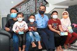 Orphans receive benefits