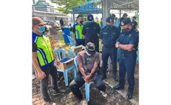 'High' highway lorry driver nabbed