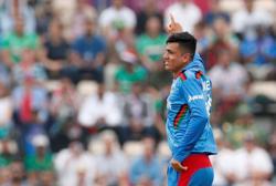 Cricket-Afghanistan's Mujeeb and Rashid destroy Scotland in Sharjah romp