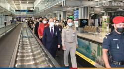 Thai authorities check measures at Suvarnabhumi airport before reopening on Nov 1