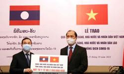 Vietnam boosts Laos' battle against Covid with medical supplies