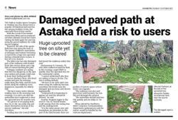 MBPJ to repair damaged path at sports complex field