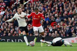 Soccer-United's Rashford 'embarrassed' by Liverpool thrashing
